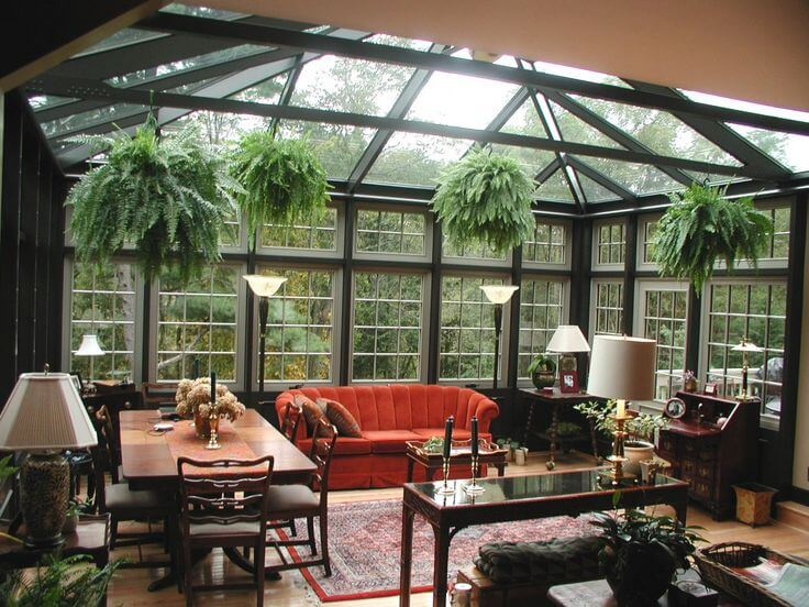 With a four seasons room your space can be exposed to natural lights and warmth