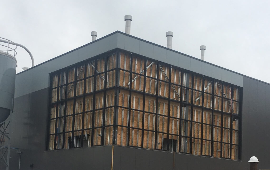Curtain Wall Install At Tree House Brewing Companies New Brewery