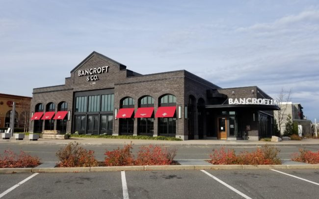 Alternate angle of the Bancroft & Co aluminum storefront in Peabody, MA
