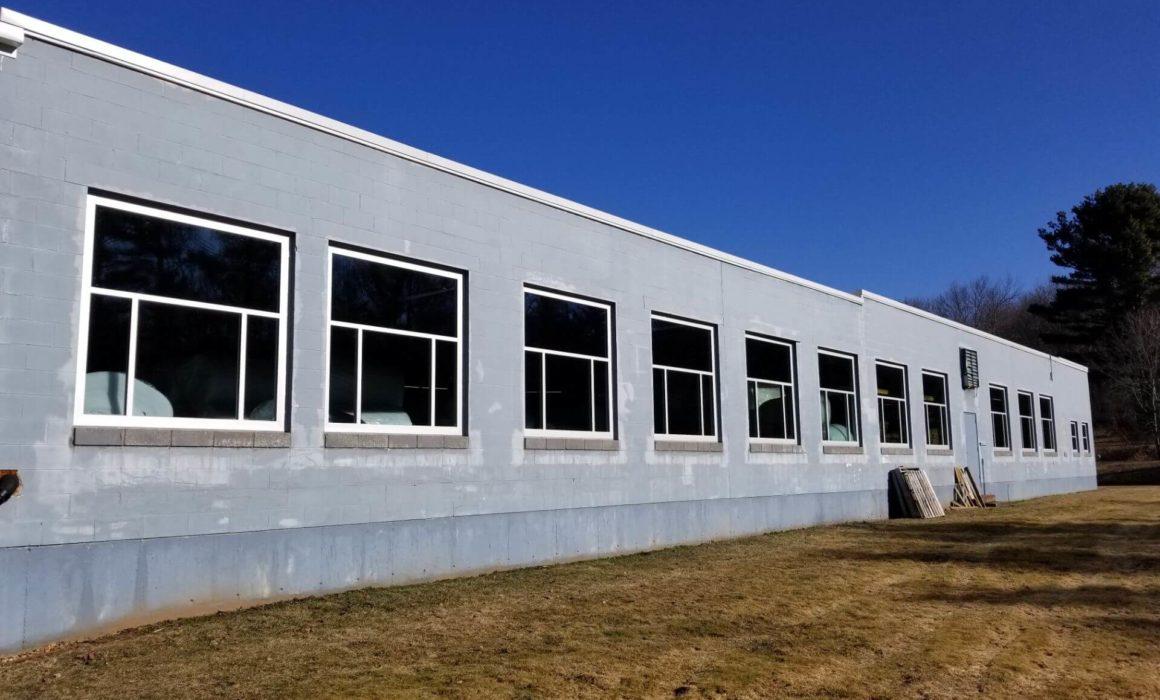 Gremacro window installation, alternate angle